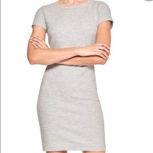 Banana Republic light gray short sleeve dress